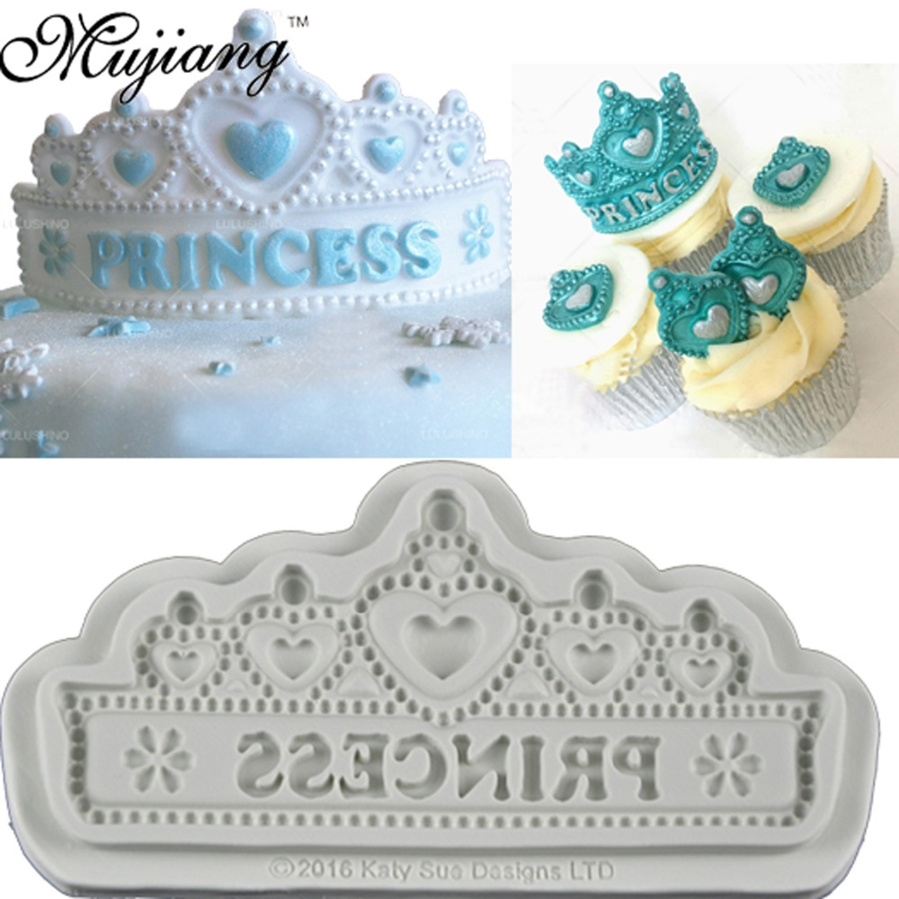 DIY Princess Crown Silicone Cake Molds Wedding Birthday