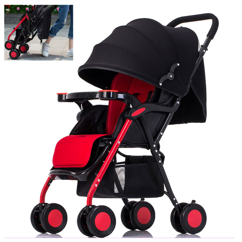 Portable Folding Lightweight Baby Infant Stroller Travel System Swivel Wheels Flat Lie Baby Umbrella Pram Pushchair Buggy 0~36M travel system airplane folding baby stroller umbrella high landscape pushchair buggy trolley pram portable shoulder bag suitcase