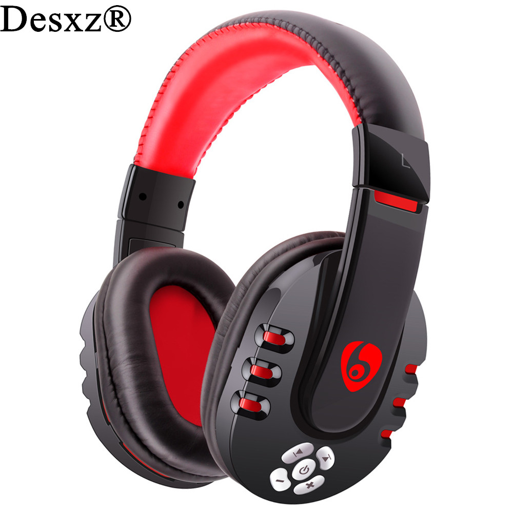 все цены на Desxz V8 Gaming Headset Bluetooth Wireless Headphones Portable Stereo Head Phones Mp3 Music Earphone With MIC For Mobile phone онлайн