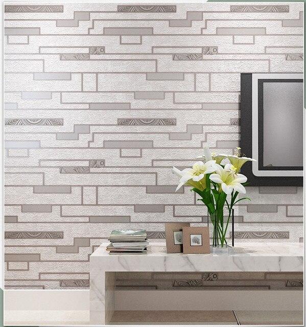Blanc Gris Culture Pierre 3d Brique Papier Peint Etanche Mur Fond