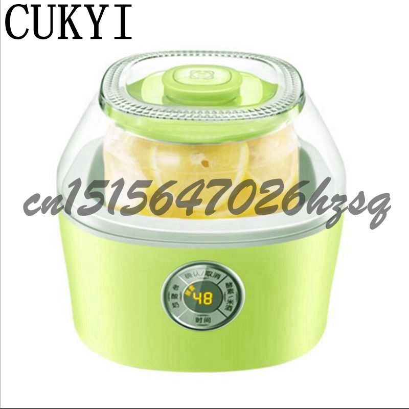 CUKYI Full automatic household multi-purpose enzyme machine for yogurt rice wine machine enzyme bucket 2.0L Frement maker cukyi household electric multi function cooker 220v stainless steel colorful stew cook steam machine 5 in 1