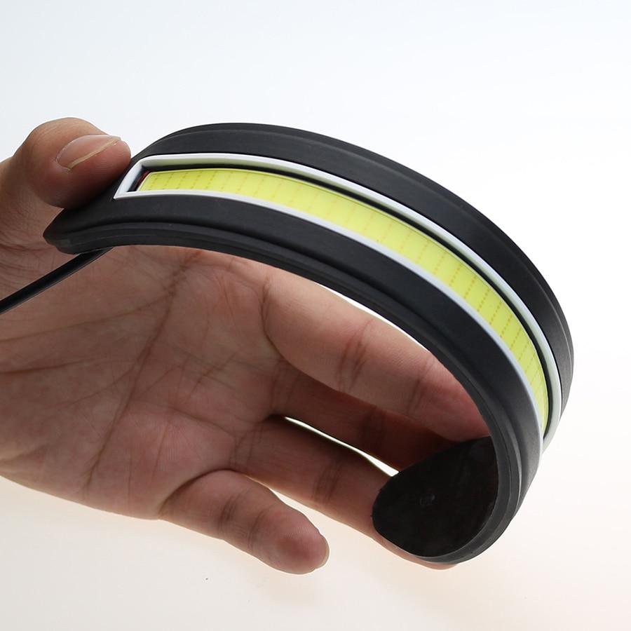 2pcs LED dnevne utripalke luči Bendable Car DRL vozni svetilki Life - Avtomobilske luči - Fotografija 4