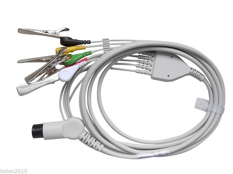 VET Veterinay ECG Cable 5 leads 6 pins For Contec Veterinary Patient Monitor