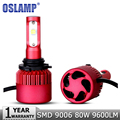 Oslamp 2PCS 9006/HB4 LED Car Headlight Bulb SMD CREE Chips 80W Led Headlights 9600LM 6500K Auto Led Headlamp Fog Light DC12v 24v