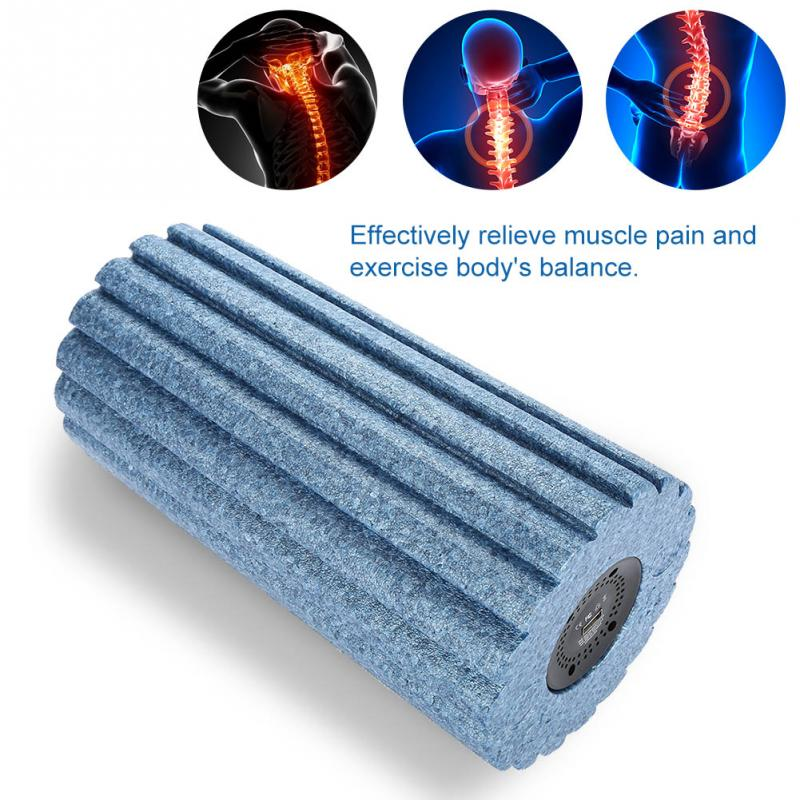 Здесь продается  5 Speed High Intensity Vibrating Foam Roller Yoga Massage Column Vibration Gear Type Blue  Красота и здоровье