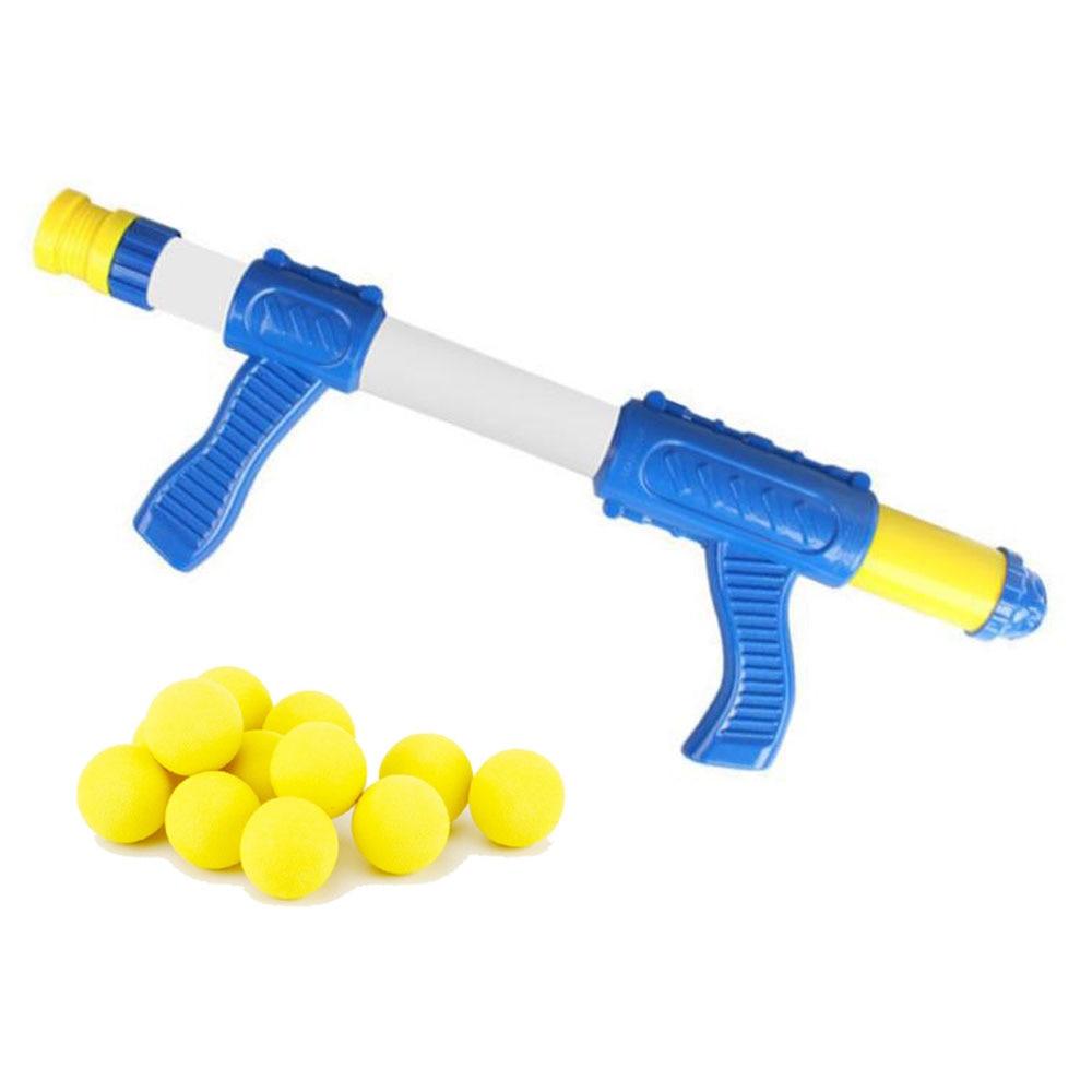 Crianças ao ar livre interativo tiro arma eva bala macia ar alimentado aerodinâmica arma desktop indoor shoot game para crianças
