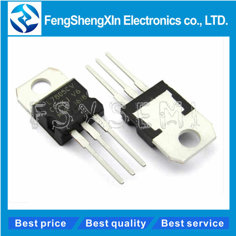 10 stks/partij Nieuwe L7805CV voltage regulator TO-220 L7805 7805 5V POSITIEVE SPANNINGSREGELAARS