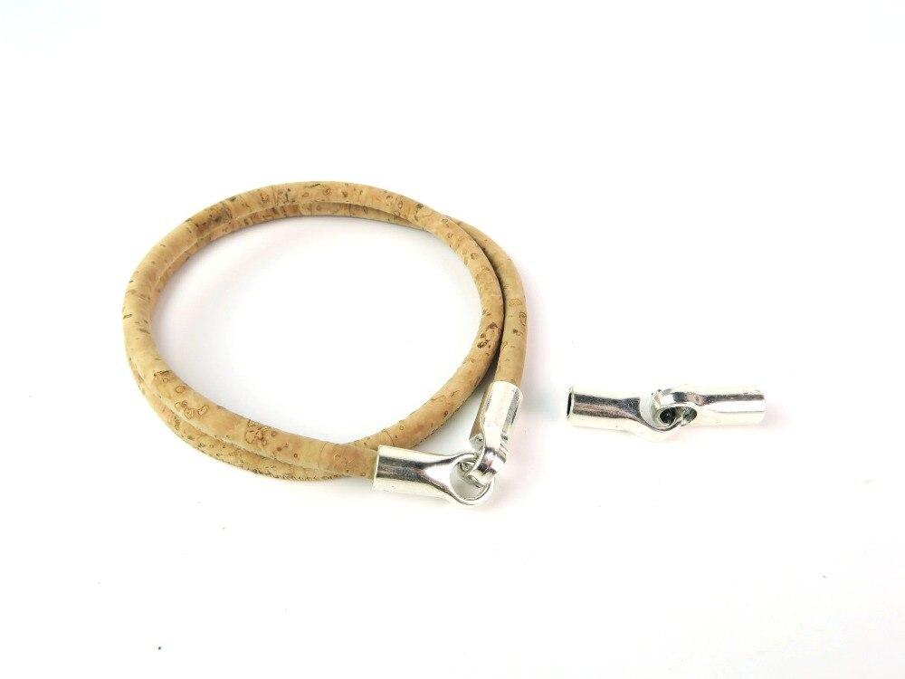 10pcs 5mm Round Leather Supplies Hook Bangle Zamak Antique Silver bracelet Components D-6-91