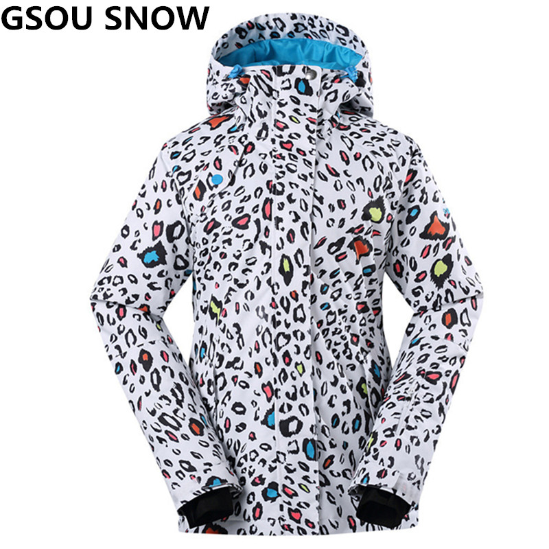 GSOU SNOW professional skiing jacket women outdoor snowboard jacket waterproof thermal winter ski jackets snow clothes size XS-L deuter giga blackberry dresscode