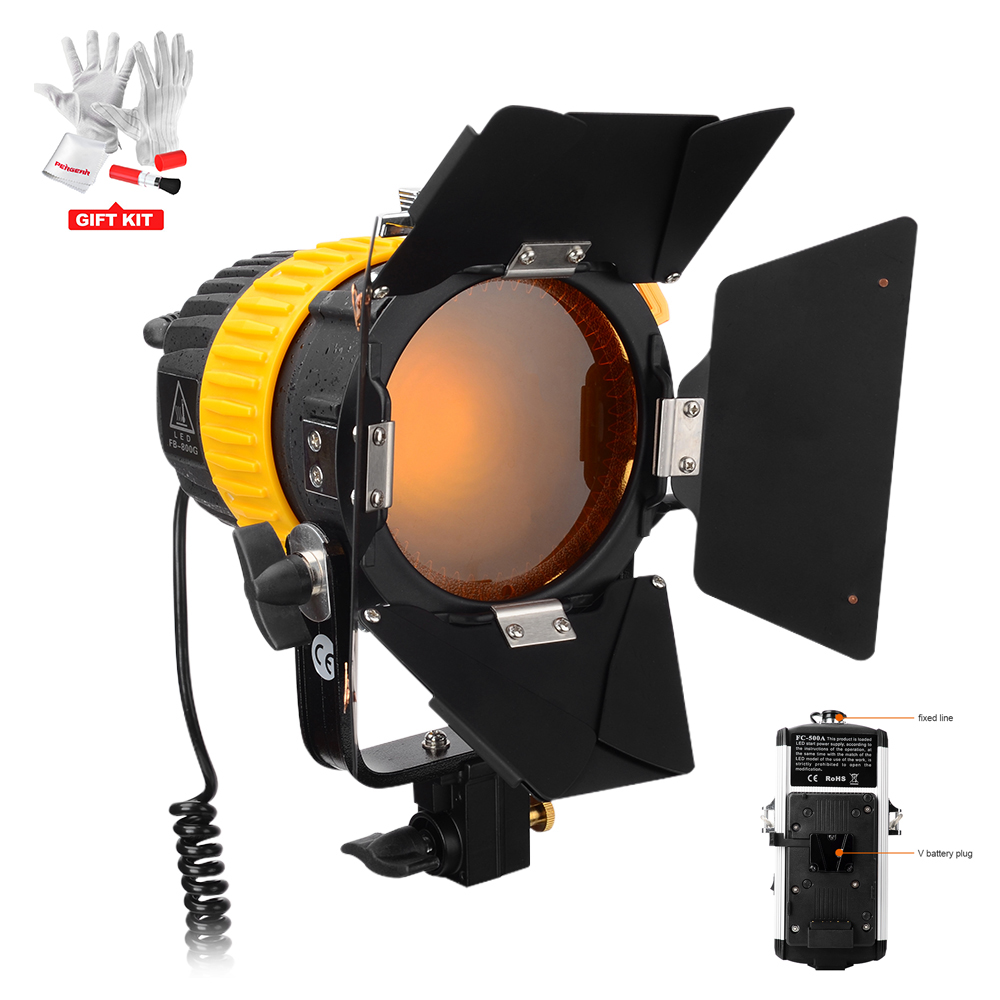 Portable CRI 90+ FB-800G 80W LED Spotlight and Floodlight Brightness Beam Angle Adjustable for Camera Video Light with V-Mount free shipping cri 90