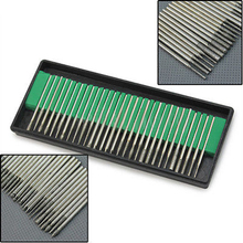 Hot 30Pcs Silver  Diamond Burr Bits Drill For Engraving Etching Rotary Nail Art Salon Tool Set    67PC