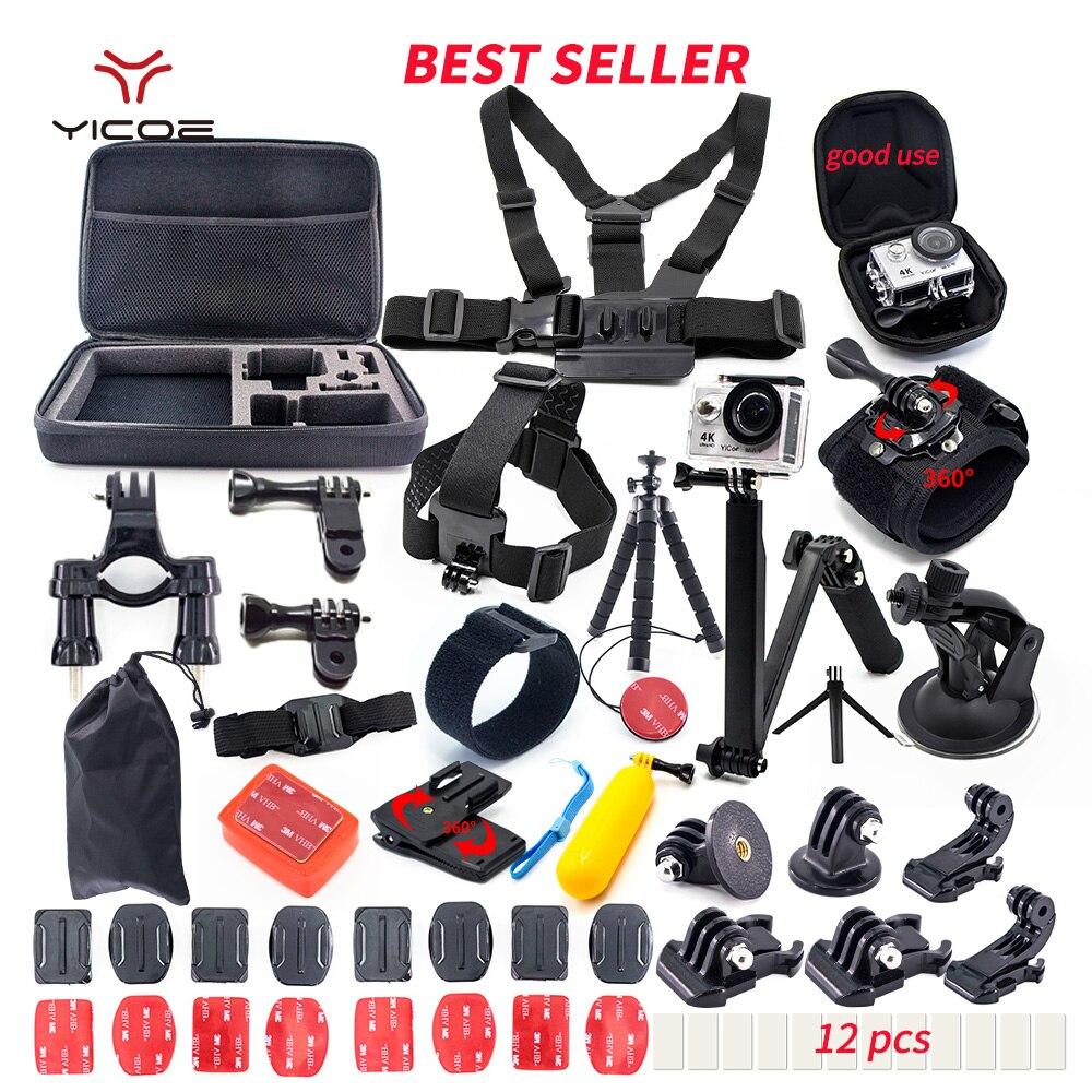 Voor Go Pro hero 7 6 5 4 Accessoires Kit gopro 7 Sessie SJCAM Xiaomi Yi 4 k mijia Action Sport Camera go pro Mount accessoires