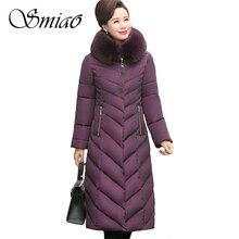2019 Big Fur Collar Winter Coat Women Thick Parka Hooded Plus Size 5XL Long Winter Cotton Down Jacket Women Outwear For Mom стоимость