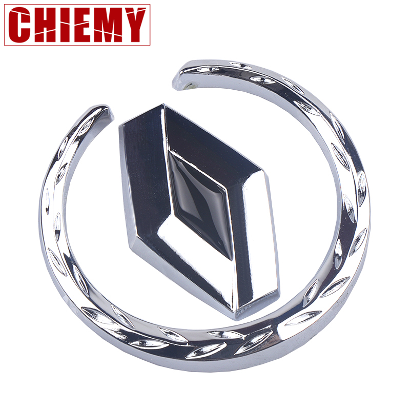3D Metal Car Window Emblem Body Rear Tailgate Badge Sticker Fit For Renault Duster Megane 2 Logan Megane 3 Clio Car-Styling
