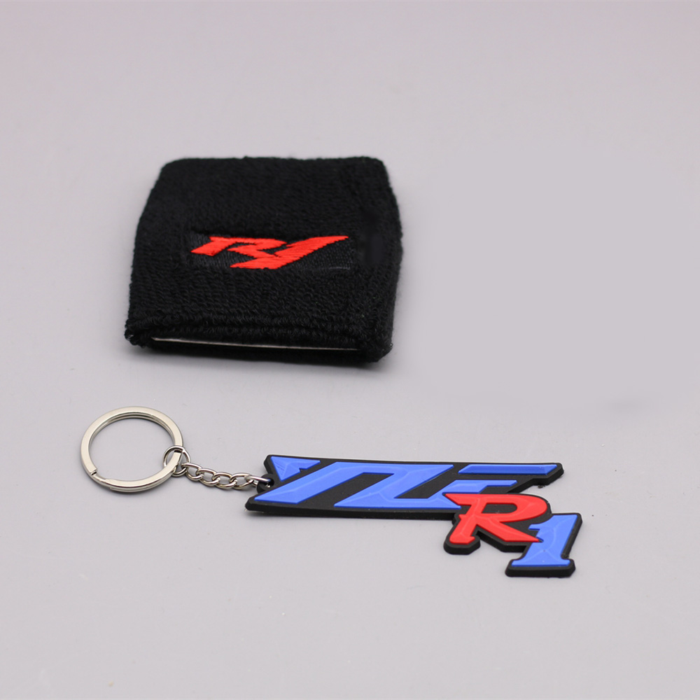 MOTORCYCLE RED YZF R1 LOGO BRAKE RESERVOIR SOCKS FLUID OIL TANK CUP COVER SLEEVE CUFF For Yamaha R1 WITH FREE KEYRING motorcycle brake fluid reservoir clutch tank oil fluid cup for yamaha yzf r25 r15 r6 r125 kawasaki z750 z800 fz8 fz1 fz6r mt09
