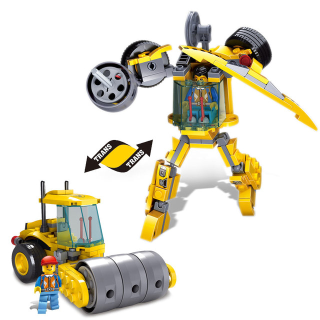 New Children's Building Blocks Toys Kazi High Pressure Engineering Vehicles Trans Robot Model Assembly Blocks Of Enlightenment