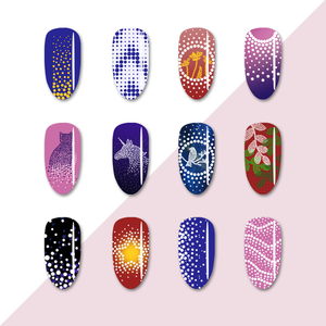 Image 3 - BORN PRETTY Nail Stamping Plates Maple Leaf  Design Stainless Steel Rectangle Nail Stamp Stencils Pattern