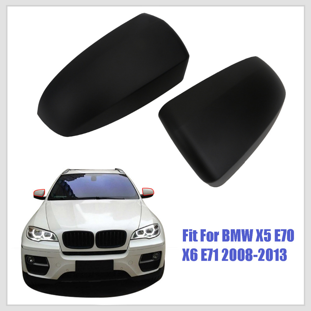 2PCS/Pair Rear View Mirror Cover For BMW E70 X5 E71 E72 X6 2007 2008 2009 2010 2011 2012 2013 Add on Style KOLERADER #3028 for volvo xc60 2009 2010 2011 2012 2013 add on style carbon fiber rear view mirror cover