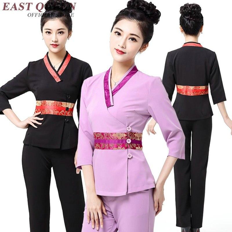 Beauty salon uniforms women scrubs medical uniforms for Baju uniform spa