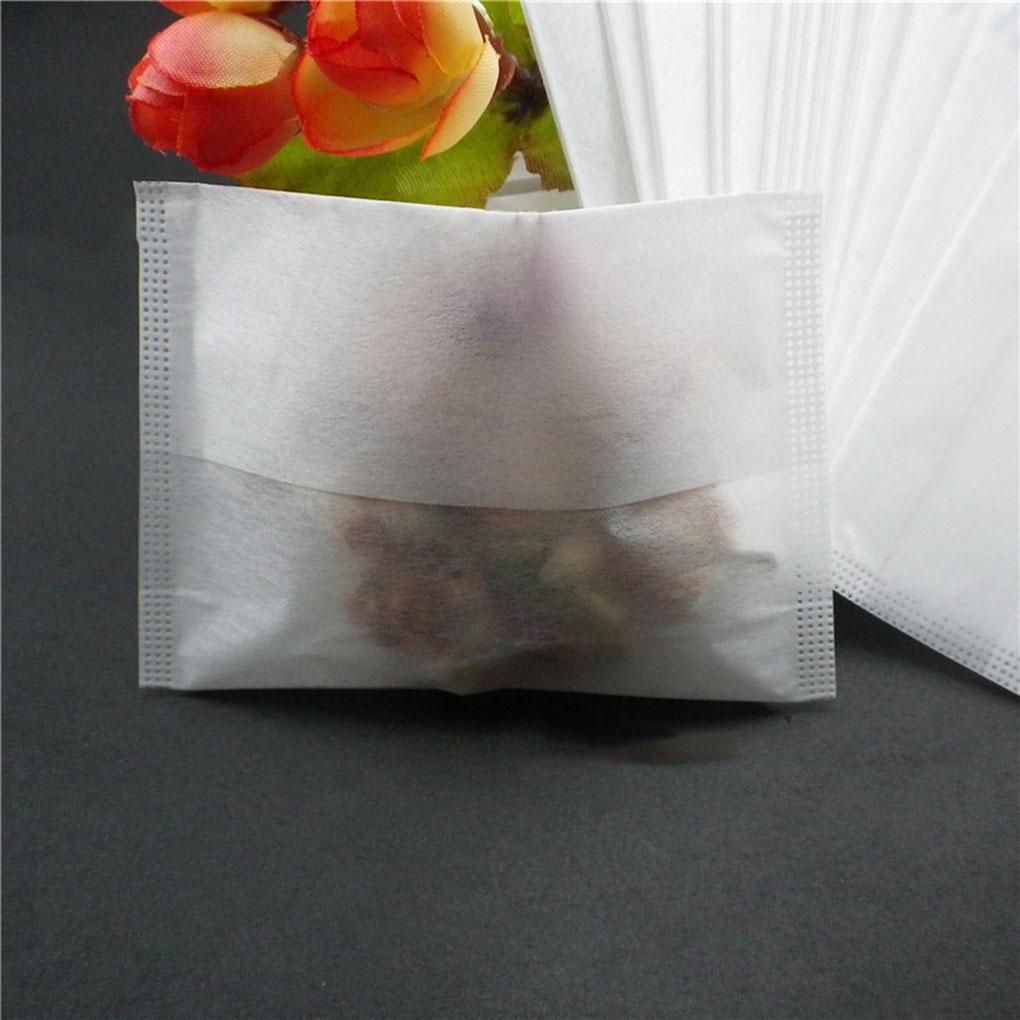 Tea-Bags HEAT-SEAL-FILTER-HOLDER Empty Drawstring Disposable 100pcs Corn-Fiber Natural-Material