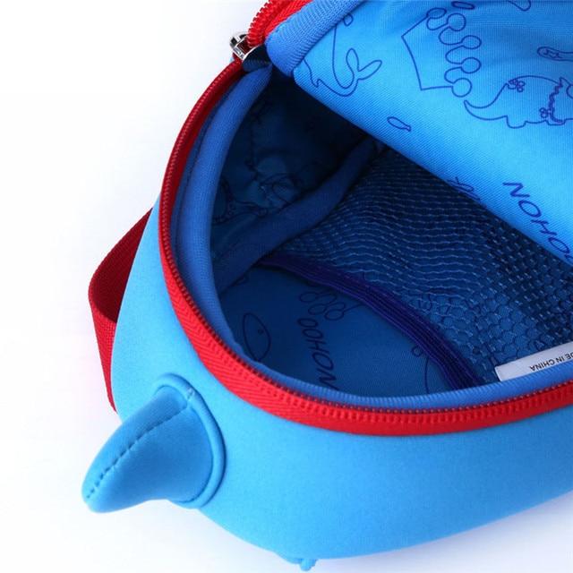 NOHOO Shark Children Cartoon Bags Waterproof School Bags For Girls Boys Neoprene Animals Kids Baby Bags