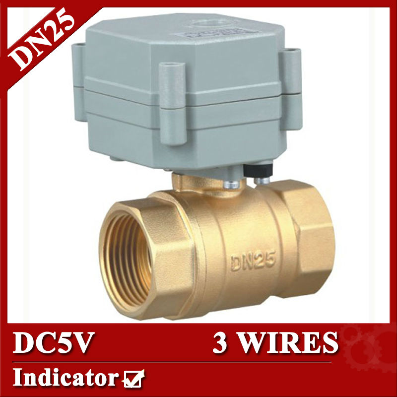 1'' brass electric valve DC5V 3 wires 2 way motorized ball valve for HVAC, air conditional fan coil and water treatment 1 dc12v 2 wires 3 way electric valve t type 2 wires manual override available for water heating hvac air conditional