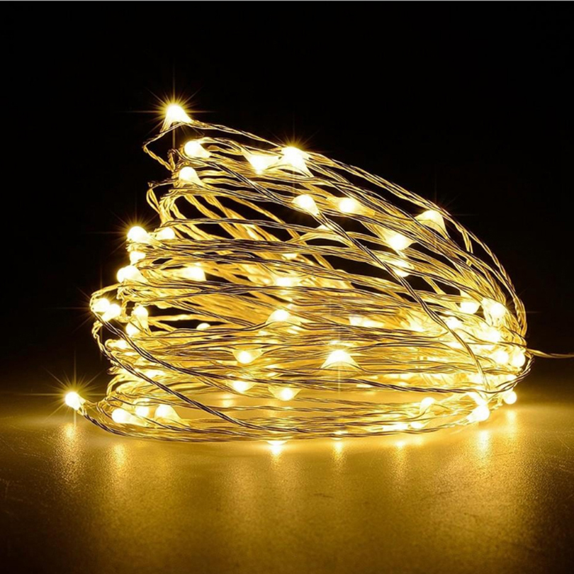 String Lights LED Lights Dekoráció Akku működtetett Garland - Üdülési világítás