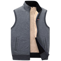 Autumn Winter Thick Cotton Vests Men's Loose Thiced Fleece Vest Waistcoat Plus Size XXXXXL Mens Outerwear Men Coats Tops