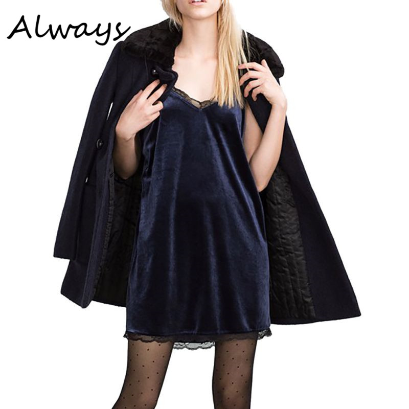 830245efb46 Sexy Women Summer Brand Design Strap Open Backless Sleeveless V Neck Lace  Shift Mini Dress Velvet slip Sundress