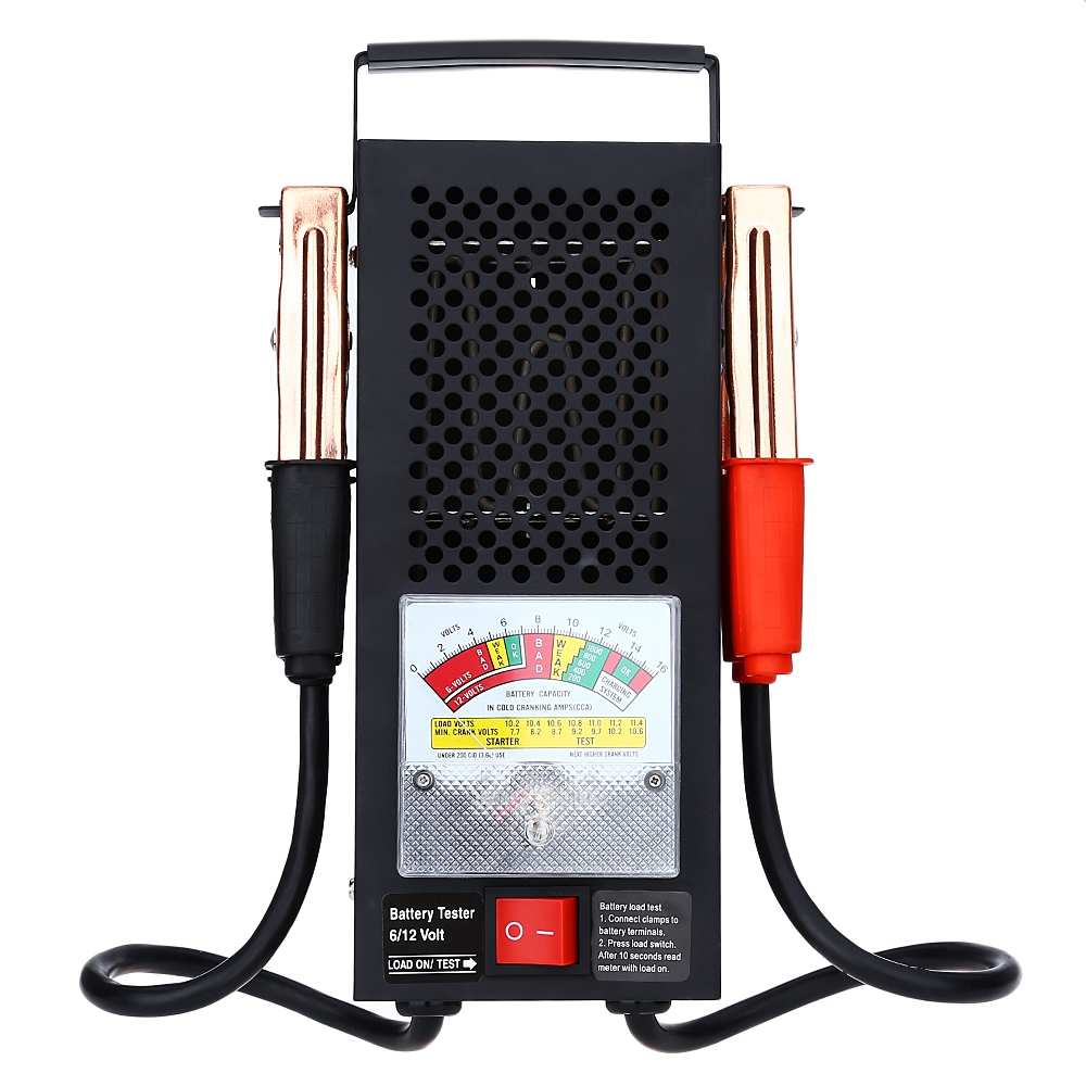 New Handheld Storage Battery Tester Car Analyzer 6V 12V VBattery Load Tester Equipment Voltage Tool  em281 mini 12v 24v automotive battery tester lcd bar indication battery load tester electrical all sun em281 battery analyzer