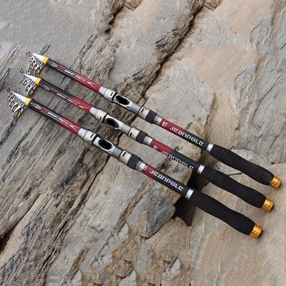 Super Hard Carbon Fiber Telescopic Fishing Rod 2.1m 2.4m 2.7m 3.0m 3.6m 99% Carbon Spinning Sea Fishing Pole
