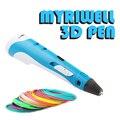 Myriwell 1 75 мм ABS умная 3D Ручка 3D печать Ручка для рисования принтер с бесплатной нитью креативный подарок для детей дизайн живопись