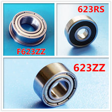 3X10X4mm 3*10*4mm Miniature ball bearing ZRO2 non magnetic ceramic 623-2RS F623ZZ S623ZZ stainless steel flange ball bearing(China)