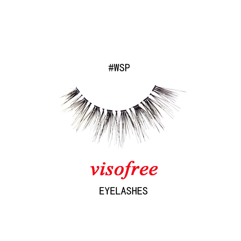 1Pair Visofree Eyelashes Fashion Soft False Fake Human Hair Eyelashes Adhesives Glamour Crisscross Eye Lashes Makeup Beauty #WSP