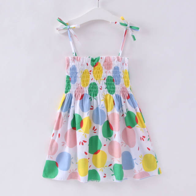 ca5d76868fde1 placeholder 1-7 Years Kids Girl Sling Dresses Summer Chidlren Clothes  Toddler Girls Dress Baby Cotton