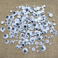Lucia crafts 200pcs lot Mixed Not Self adhesive Eyes DIY For Toys Dolls Googly Wiggly Eyeballs