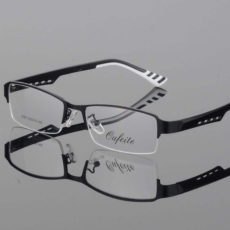 Reven Jate 2387 Half Rimless Eyeglasses Frame  Prescription Semi-Rim Glasses Frame For Women's Eyewear Female Armacao Oculos