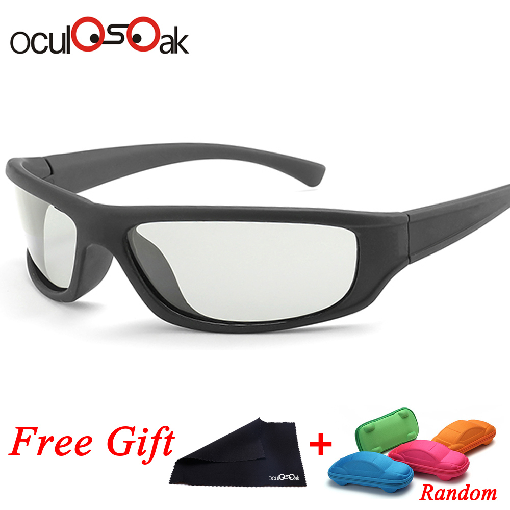 HD Driving Photochromic Sunglasses Men Polarized Chameleon Discoloration All day change color snow light Gafas de sol with box in Men 39 s Sunglasses from Apparel Accessories