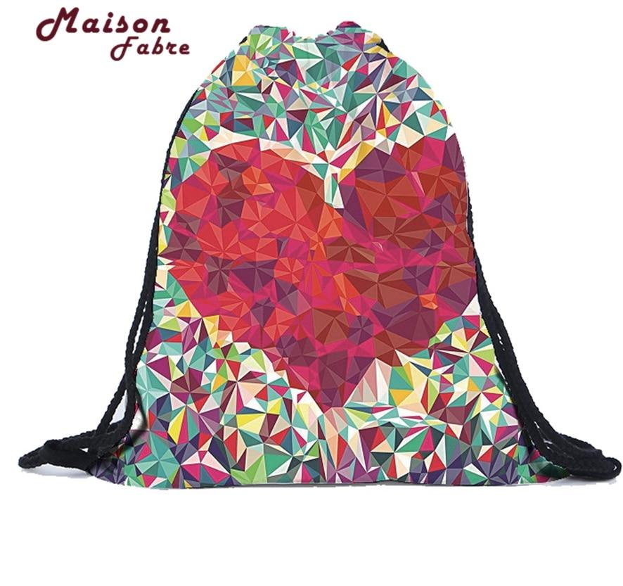 Women Backpacks Travel Lunch Shoulder Bag Unisex Backpacks 3D Printing Bags Drawstring Backpack Casual Rucksack 10#30