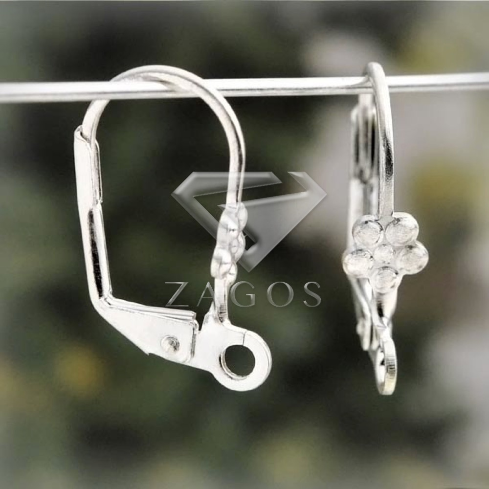 22Pcs Silver Lever Back Earring Components 18x10x2mm Earring Findings For Jewelry Making DIY Crafts Wholesale EF0028