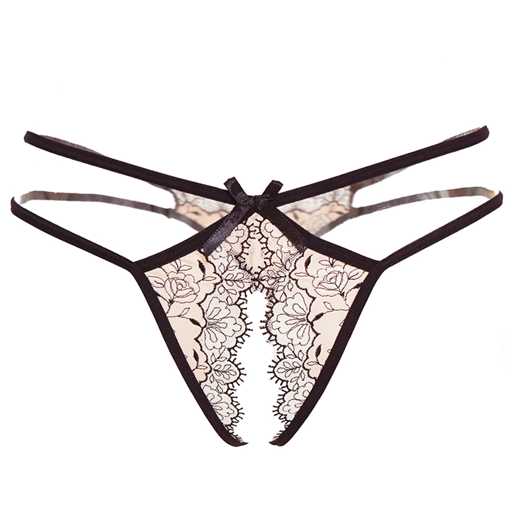 Sexy women transparent panties open crotch panty Lingerie Lace erotic panties with a hole Sexy female lingerie thong underpants