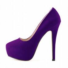 women shoes ladies girls concealed platform stiletto high heels wedding party Purple 39