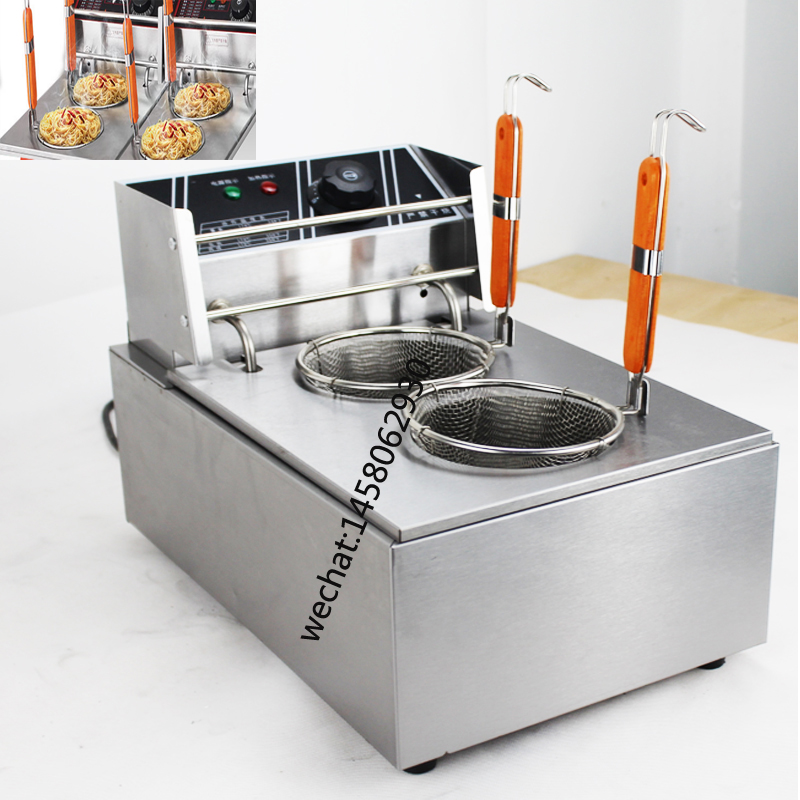 Commercial Tabletop electric 8L tank Noodle Cooker 2 Basket Pasta Cooker Machine Noodle Stove counter top commercial electric noodle cooker chinese noodle cooker counter top electric pasta cooker