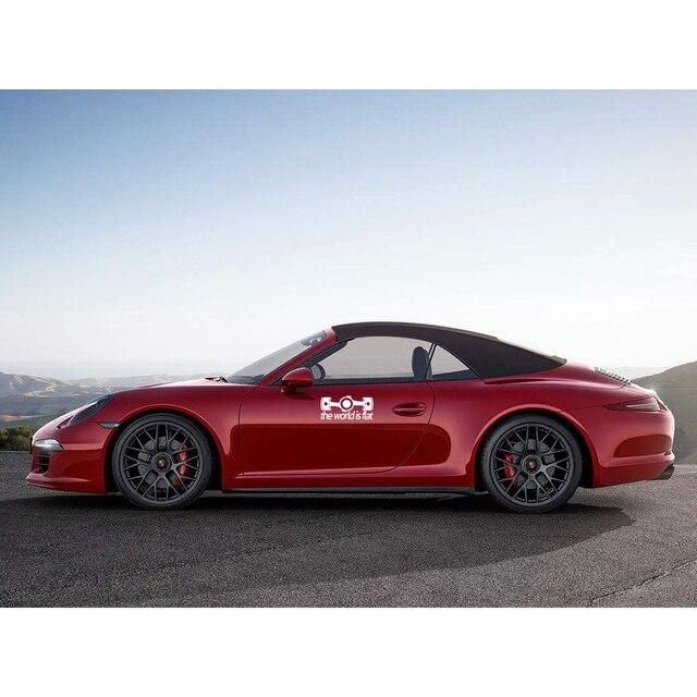 Dewtreetali nuevo plano del motor boxer de adhesivos para ventana de coche carrocería de vinilo de la etiqueta engomada para porsche VW subaru impreza BRZ decoración blanco y negro