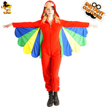 DSPLAY Roleplay Colorful Parrot Party Costume Carnival Cosplay New Style Sexy Girl Fancy Dress Woman Mascot Cute Lady Jumpsuit