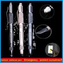 2016 Laix Táctico Pluma de la Autodefensa Al Aire Libre Multi-Herramienta de Cristal de Acero de Tungsteno Con Cuchillo lápiz táctil pluma defensa edc kits de viaje
