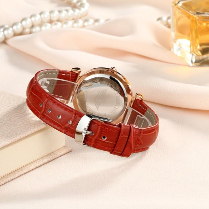 Fashion Rose gold Dial Zegarki damskie Luksusowe romantyczne - Zegarki damskie - Zdjęcie 5