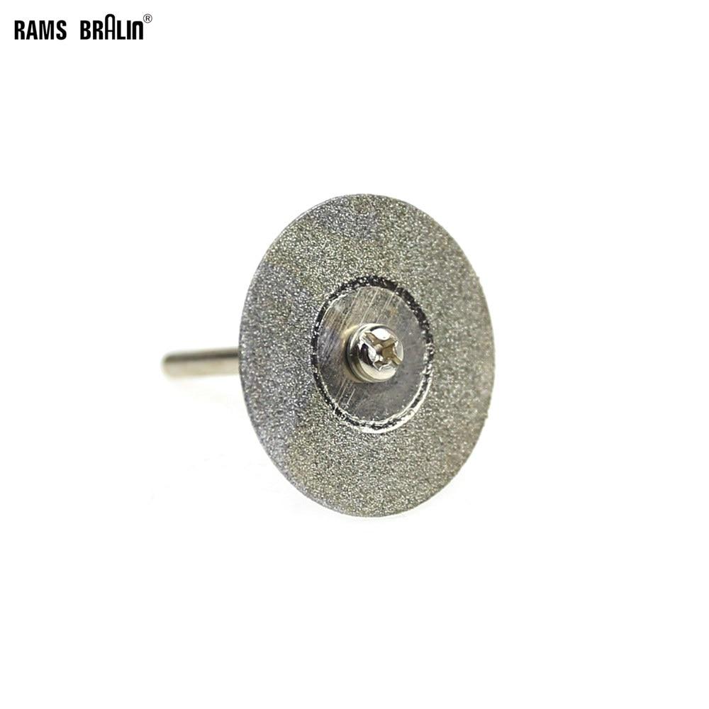 10 Pcs Dia. 22/30mm Dremel Diamond Cutting Disc Mini Drill Cutter For Stone Metal Jade Cutting