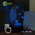 CNHIDEE Universo Luminarias Divertidas Bebé Dormitorio Night Lights Led 3D LED RGB Lámpara de Mesa Táctil como Regalos de La Novedad