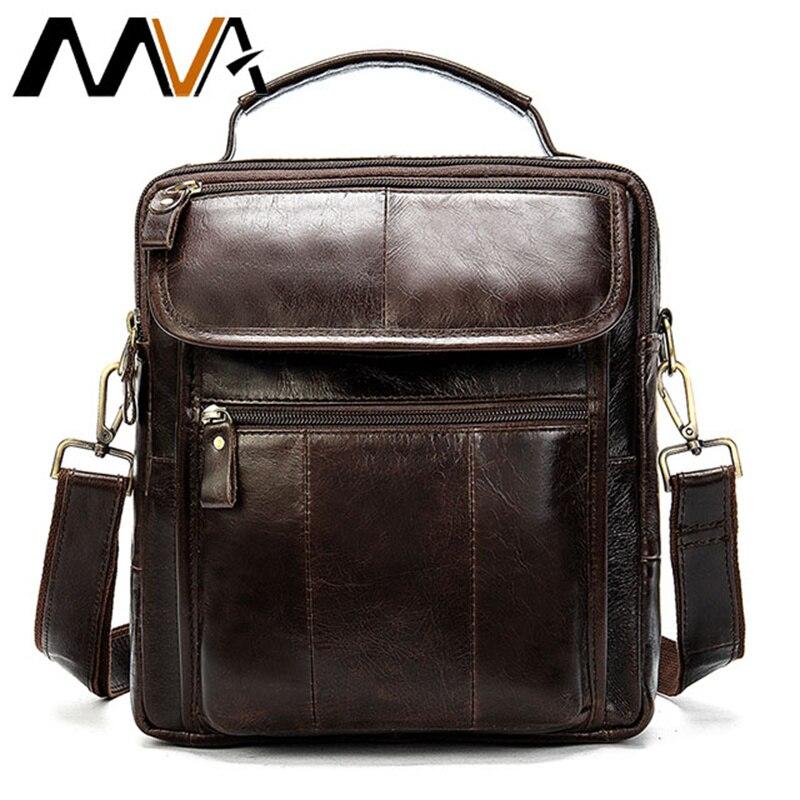 MVA Men's Shoulder Bag For Men Oil Leather Messenger Male Bag Men's Genuine Leather Crossbody/males Bags For Men Handbag 8870